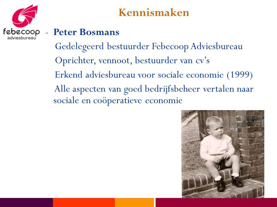 Kennismaken Peter Bosmans Gedelegeerd bestuurder Febecoop Adviesbureau