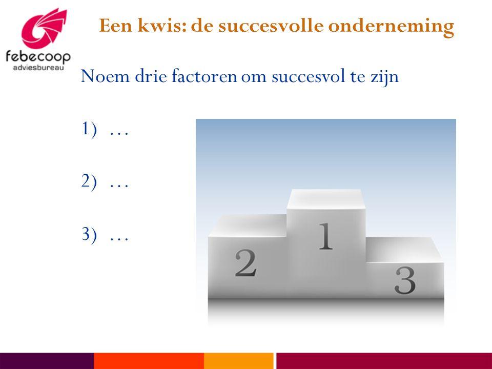 Een kwis: de succesvolle onderneming