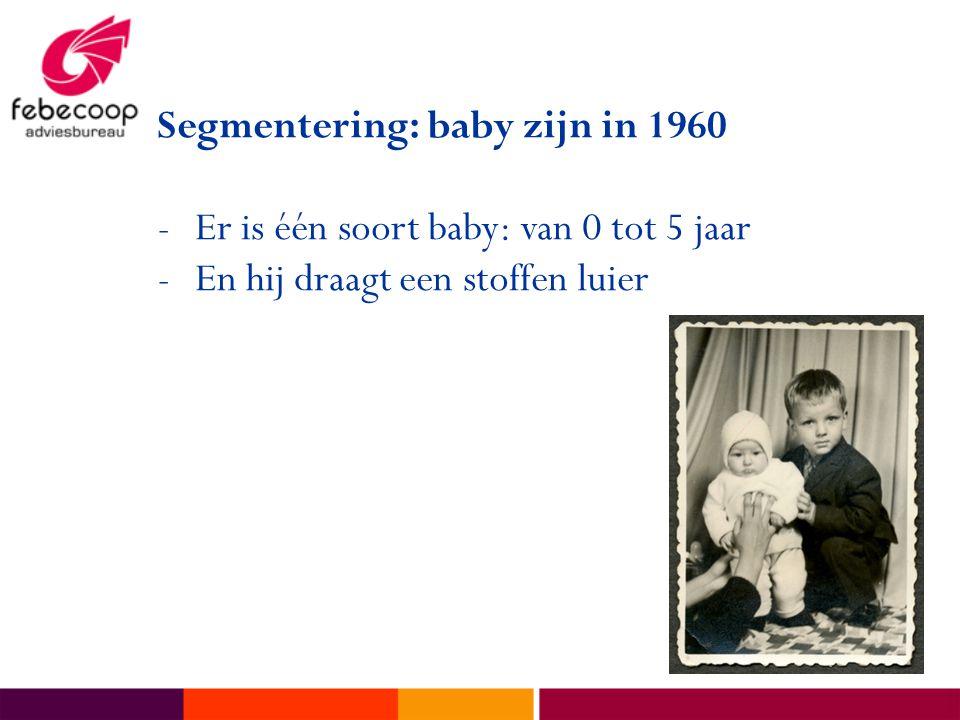 Segmentering: baby zijn in 1960