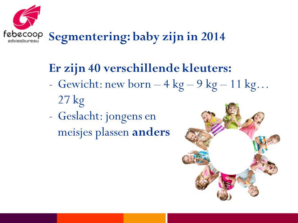 Segmentering: baby zijn in 2014