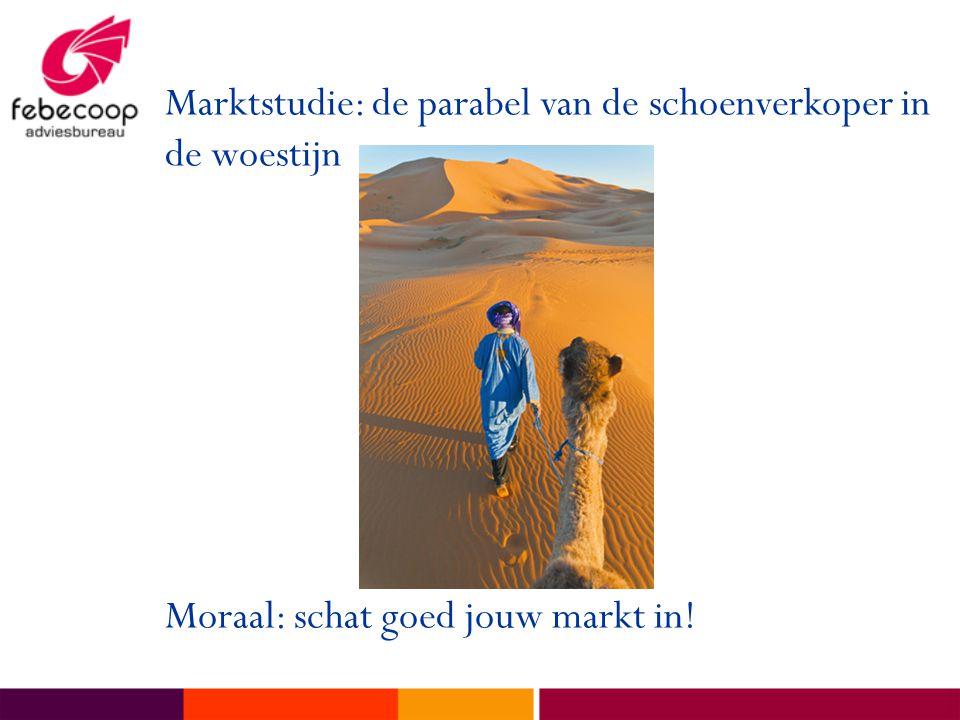 Marktstudie: de parabel van de schoenverkoper in de woestijn