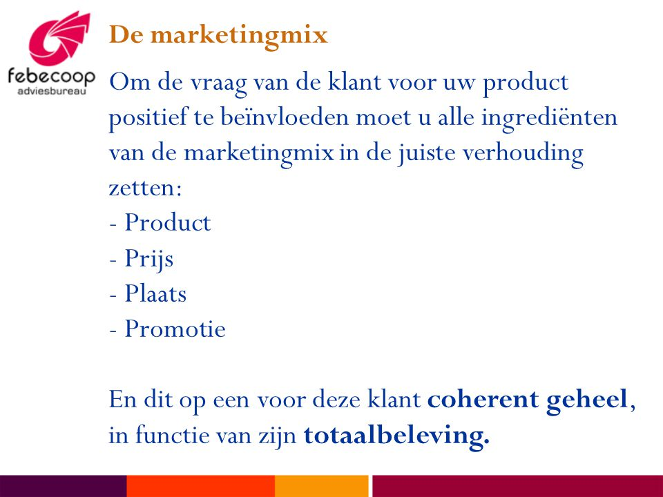 De marketingmix