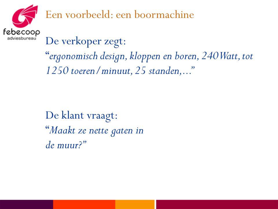 Een voorbeeld: een boormachine
