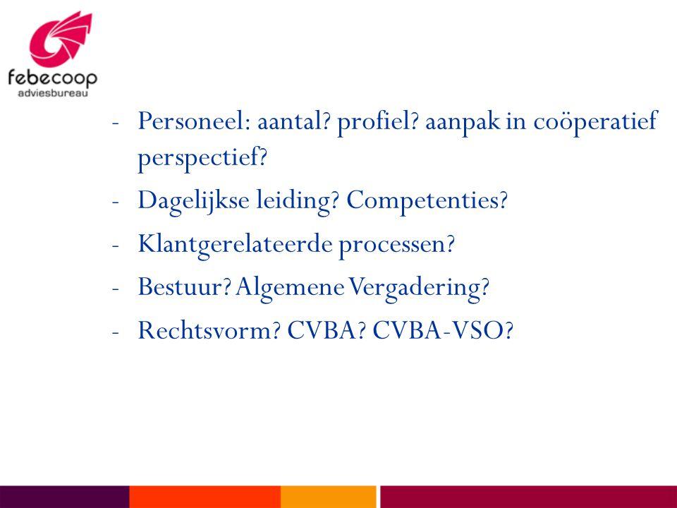 Personeel: aantal profiel aanpak in coöperatief perspectief