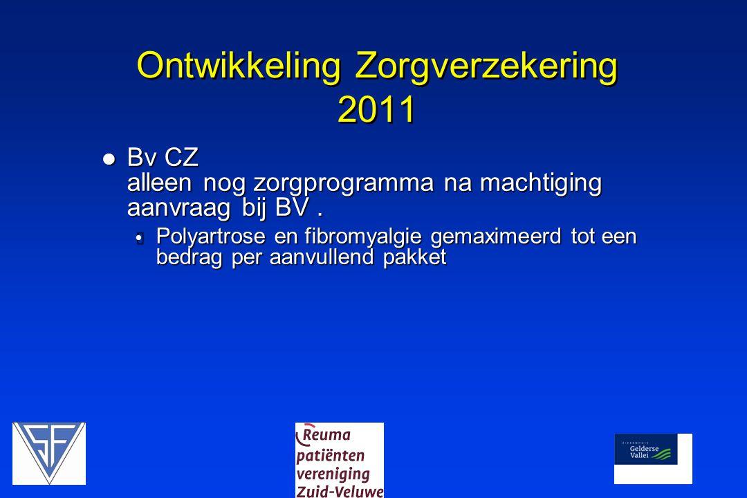Ontwikkeling Zorgverzekering 2011