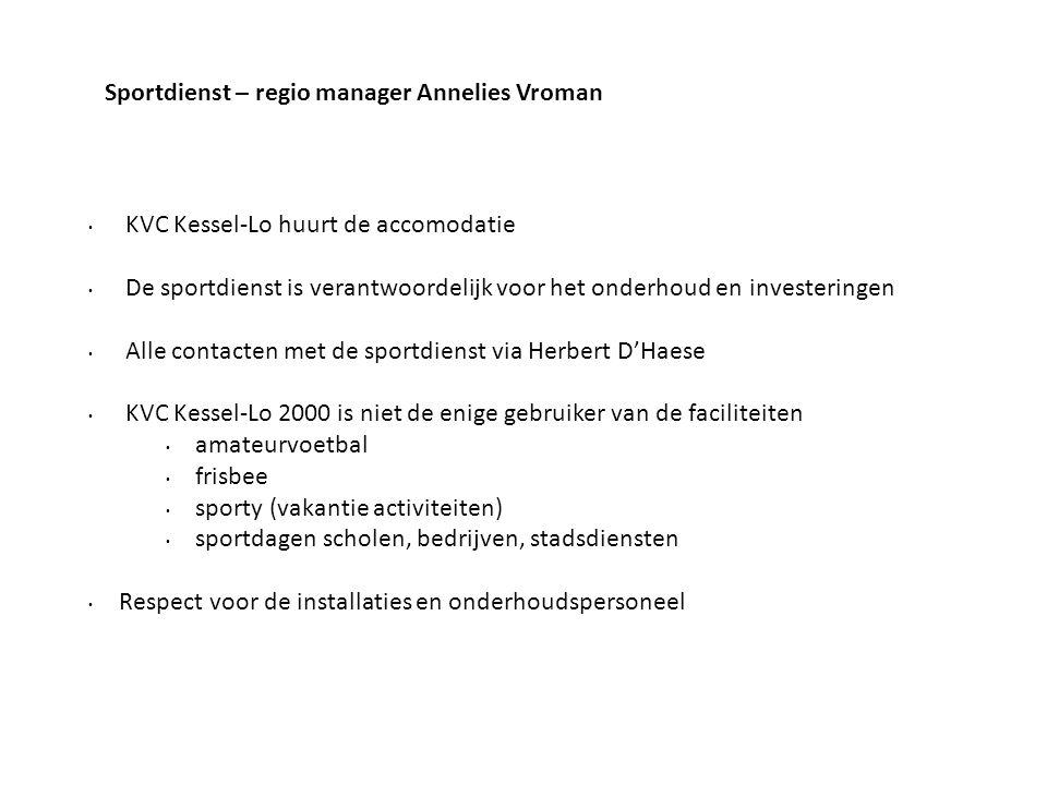 Sportdienst – regio manager Annelies Vroman