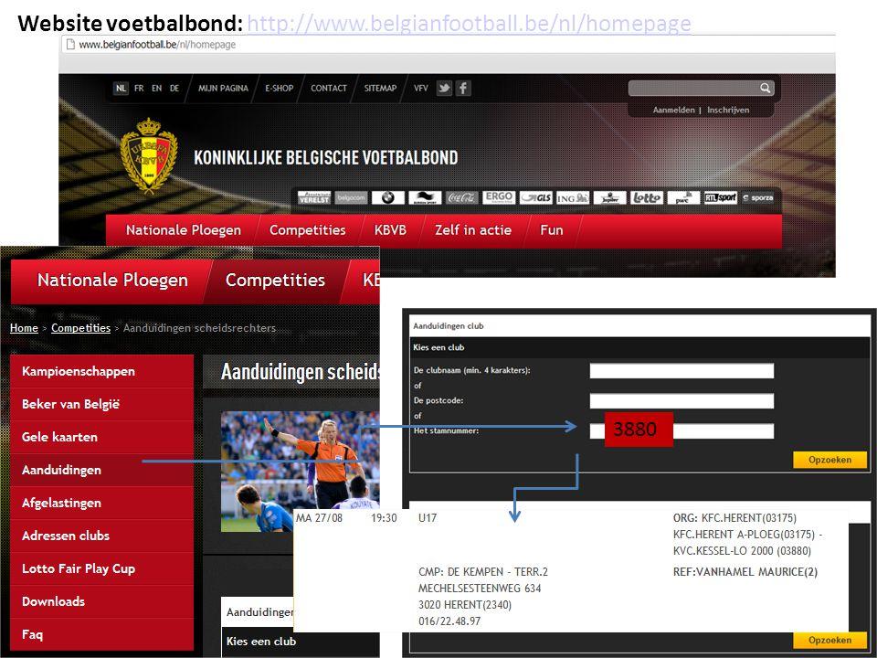 Website voetbalbond: http://www.belgianfootball.be/nl/homepage