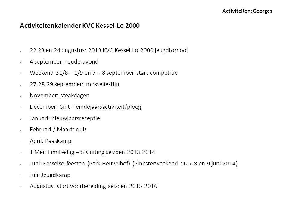 Activiteitenkalender KVC Kessel-Lo 2000