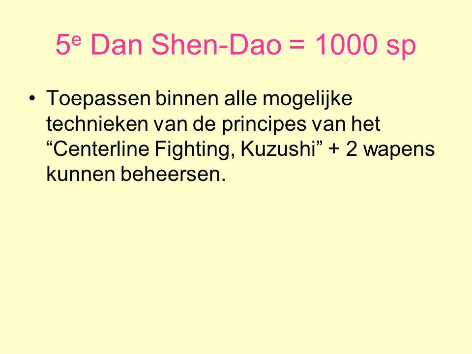 5e Dan Shen-Dao = 1000 sp