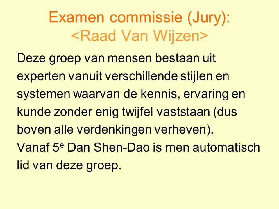 Examen commissie (Jury): <Raad Van Wijzen>