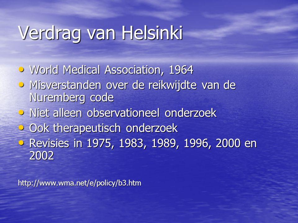 Verdrag van Helsinki World Medical Association, 1964