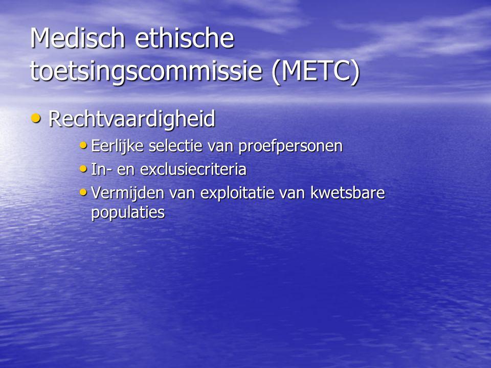 Medisch ethische toetsingscommissie (METC)