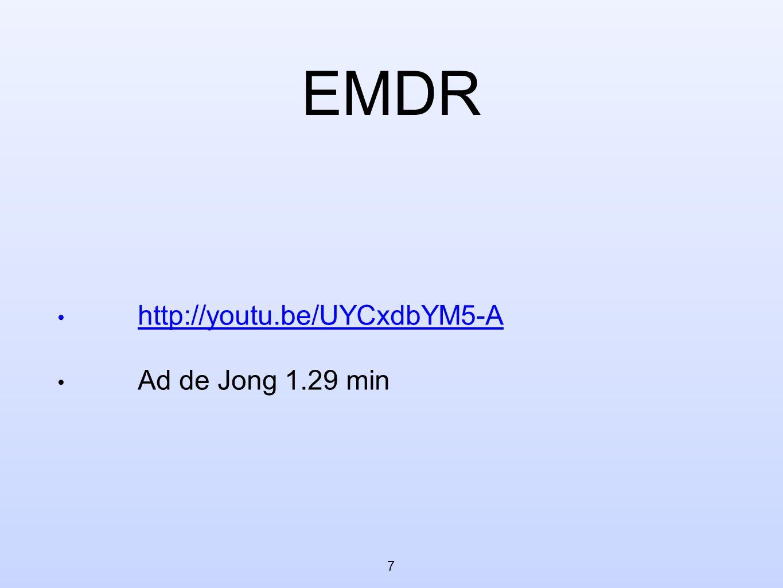 EMDR http://youtu.be/UYCxdbYM5-A Ad de Jong 1.29 min 7