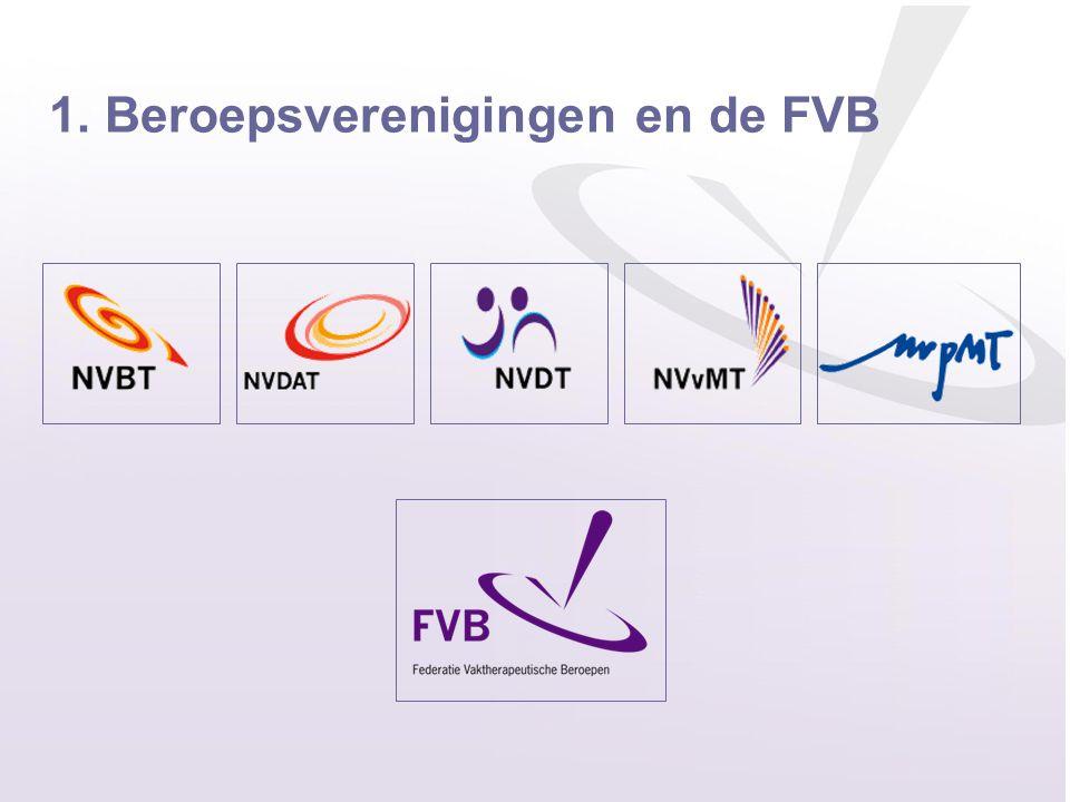1. Beroepsverenigingen en de FVB