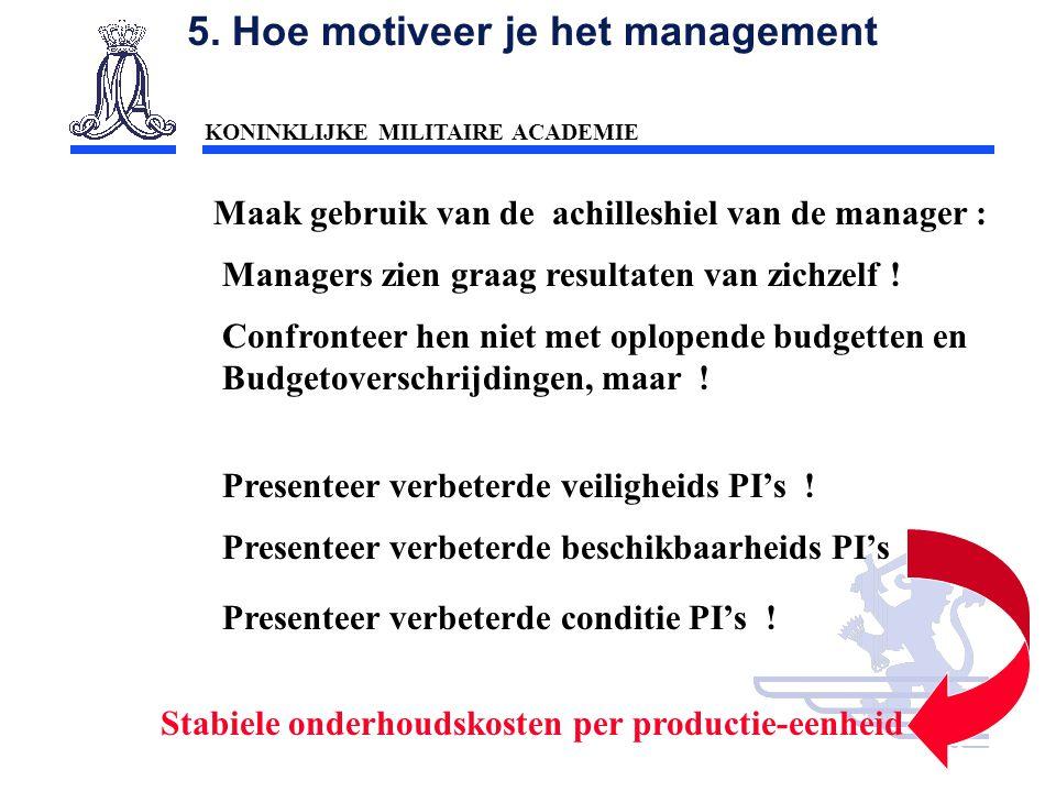 5. Hoe motiveer je het management