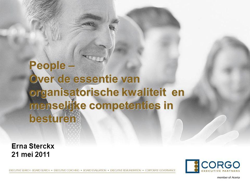People – Over de essentie van organisatorische kwaliteit en menselijke competenties in besturen
