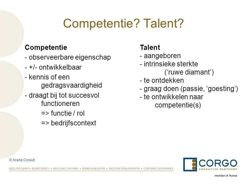 Competentie Talent Competentie - observeerbare eigenschap