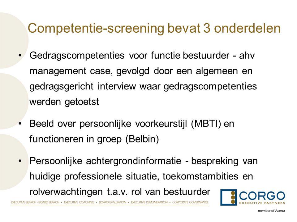 Competentie-screening bevat 3 onderdelen