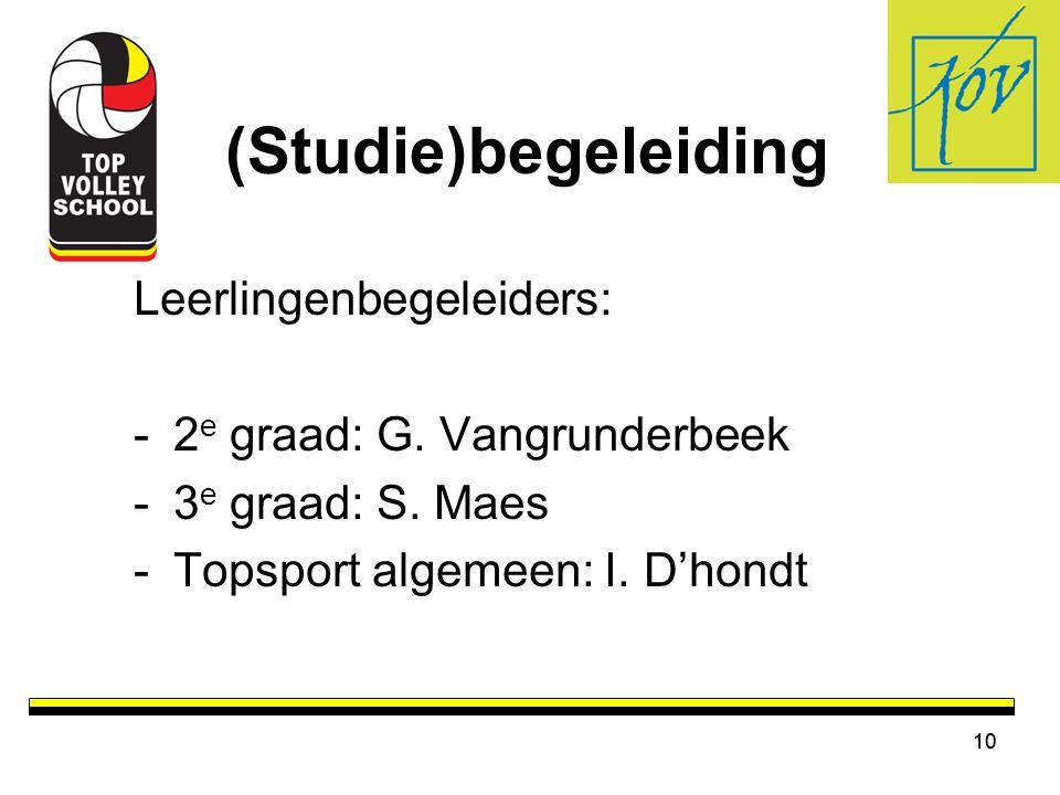 (Studie)begeleiding Leerlingenbegeleiders: 2e graad: G. Vangrunderbeek