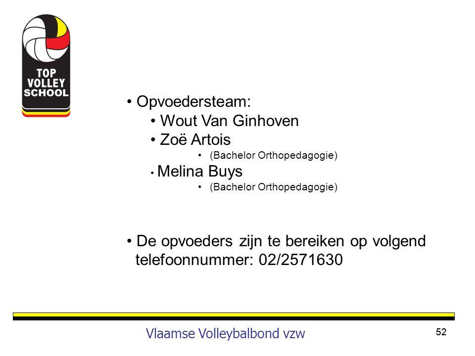 De opvoeders zijn te bereiken op volgend telefoonnummer: 02/2571630