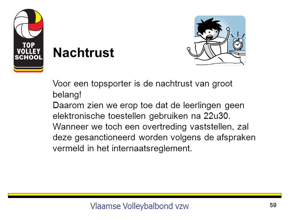 Nachtrust Vlaamse Volleybalbond vzw