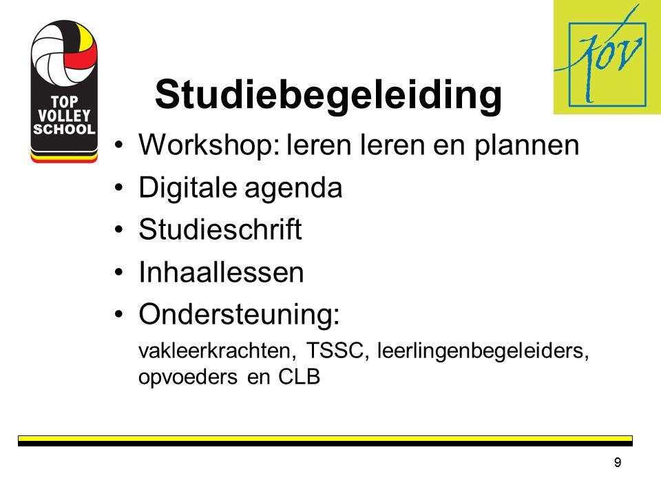 Studiebegeleiding Workshop: leren leren en plannen Digitale agenda