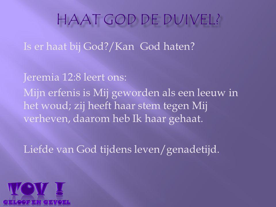TOV ! Haat god de duivel Is er haat bij God /Kan God haten