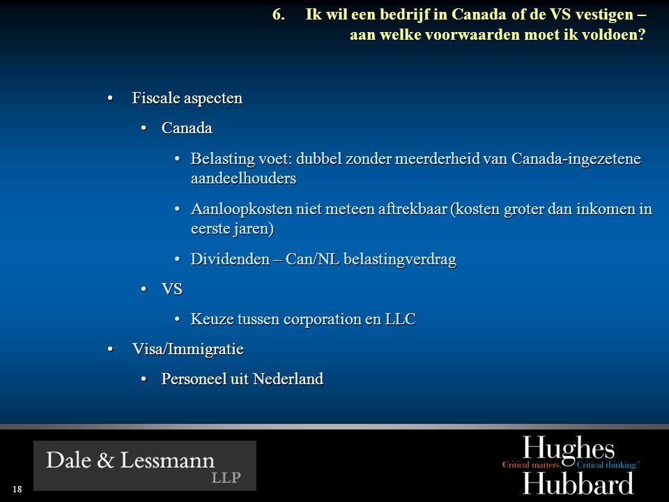 Dividenden – Can/NL belastingverdrag VS