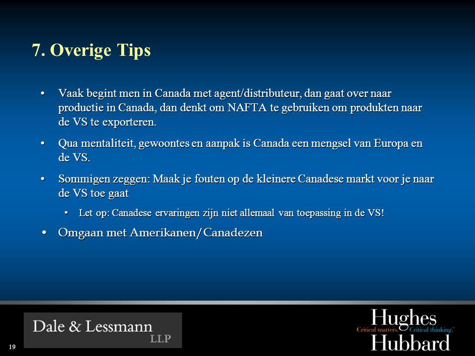 7. Overige Tips
