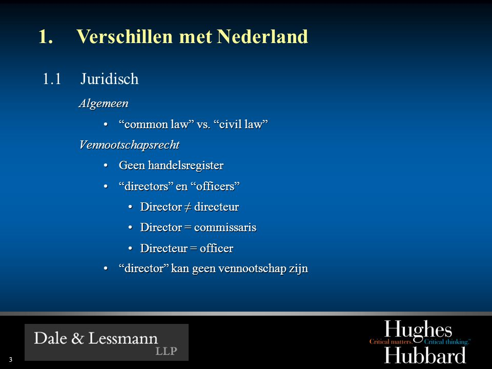 1. Verschillen met Nederland