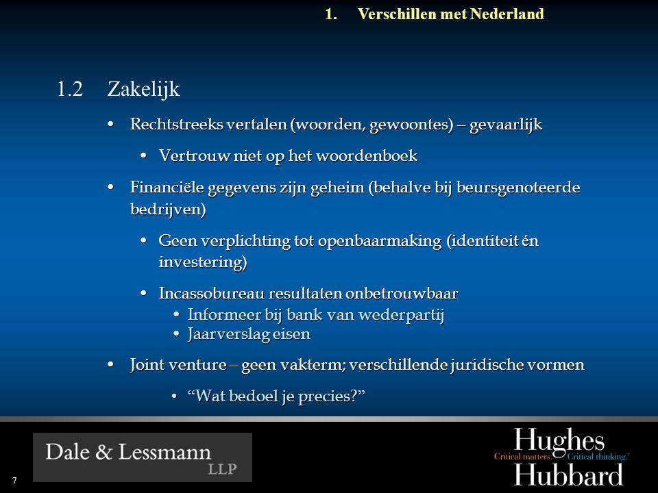 1.2 Zakelijk Verschillen met Nederland