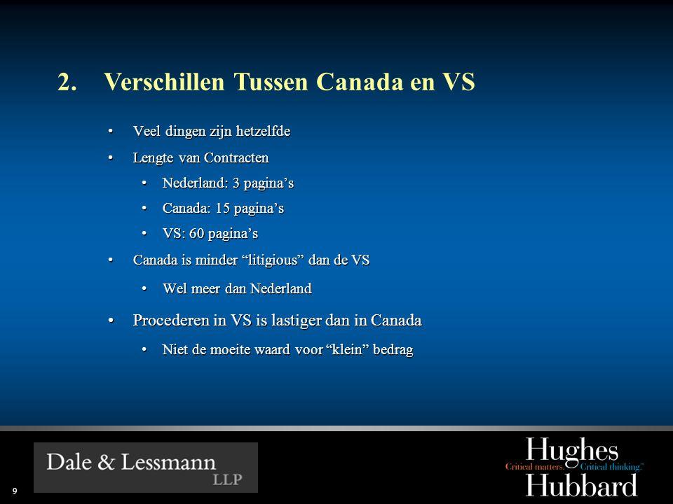 2. Verschillen Tussen Canada en VS