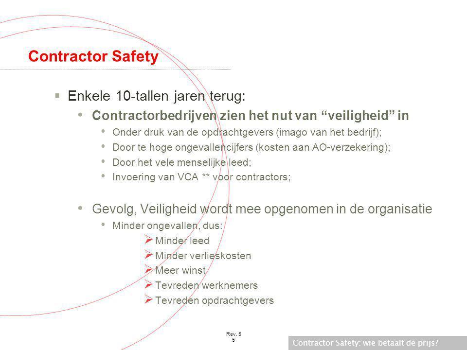 Contractor Safety Enkele 10-tallen jaren terug: