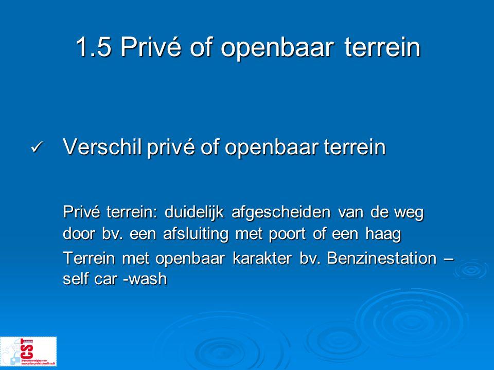 1.5 Privé of openbaar terrein