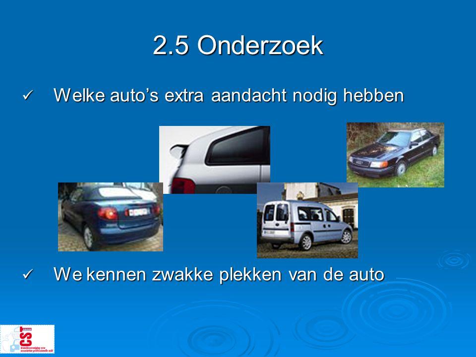 2.5 Onderzoek Welke auto's extra aandacht nodig hebben