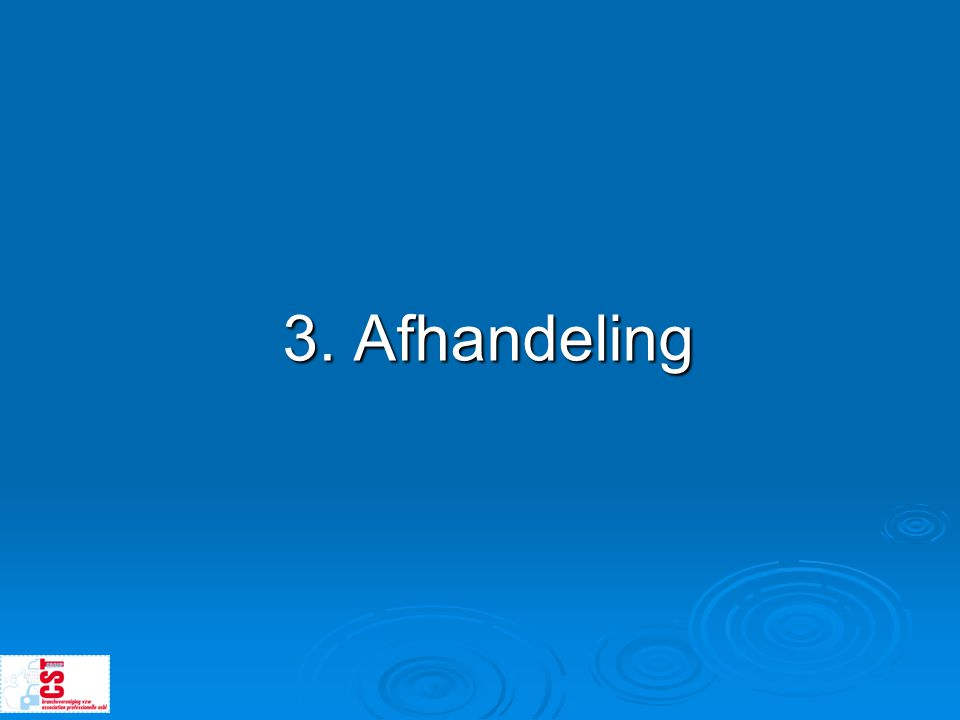 3. Afhandeling