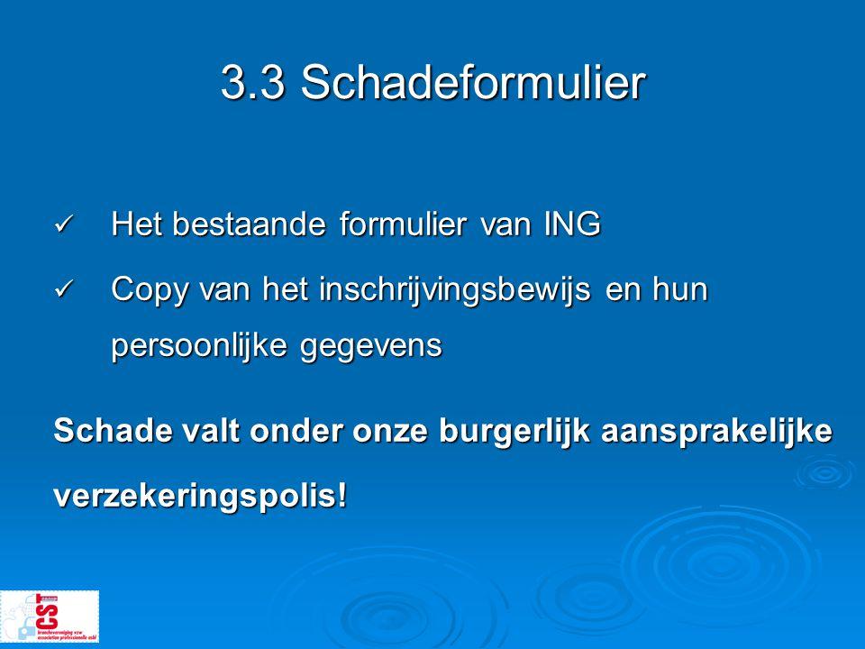3.3 Schadeformulier Het bestaande formulier van ING