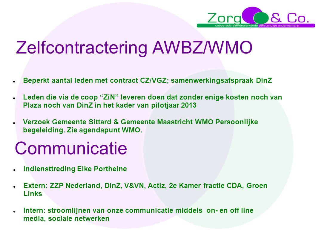 Zelfcontractering AWBZ/WMO