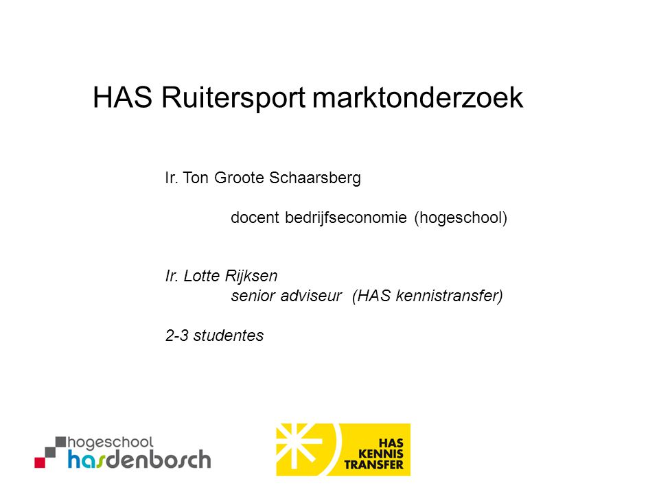 HAS Ruitersport marktonderzoek