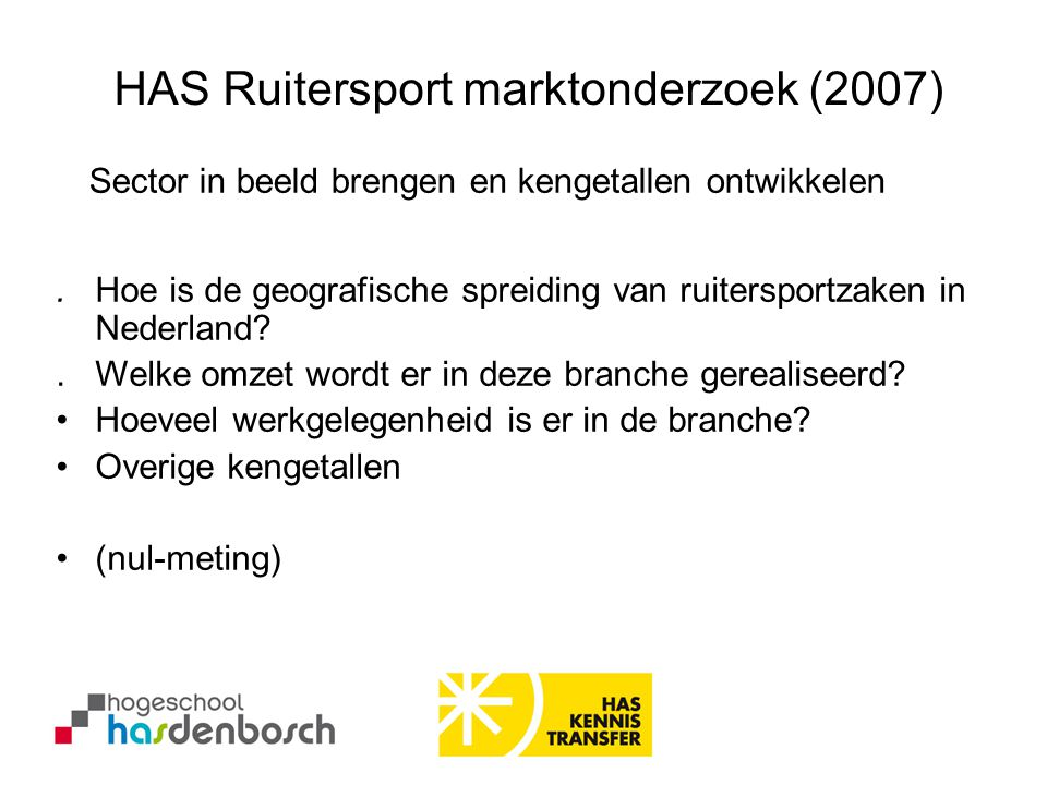 HAS Ruitersport marktonderzoek (2007)