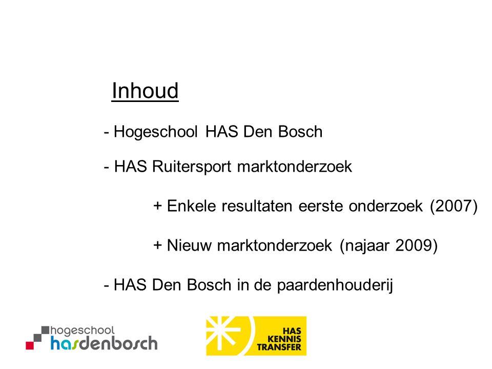 Inhoud - Hogeschool HAS Den Bosch HAS Ruitersport marktonderzoek