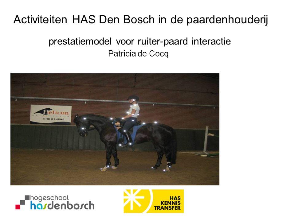 prestatiemodel voor ruiter-paard interactie