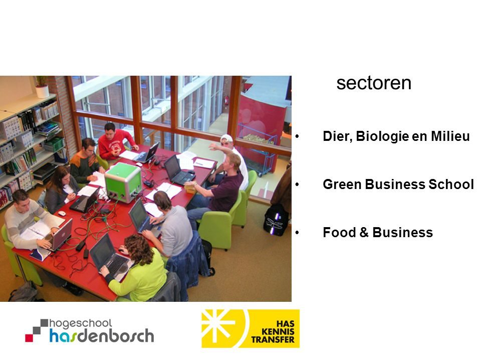 sectoren Dier, Biologie en Milieu Green Business School