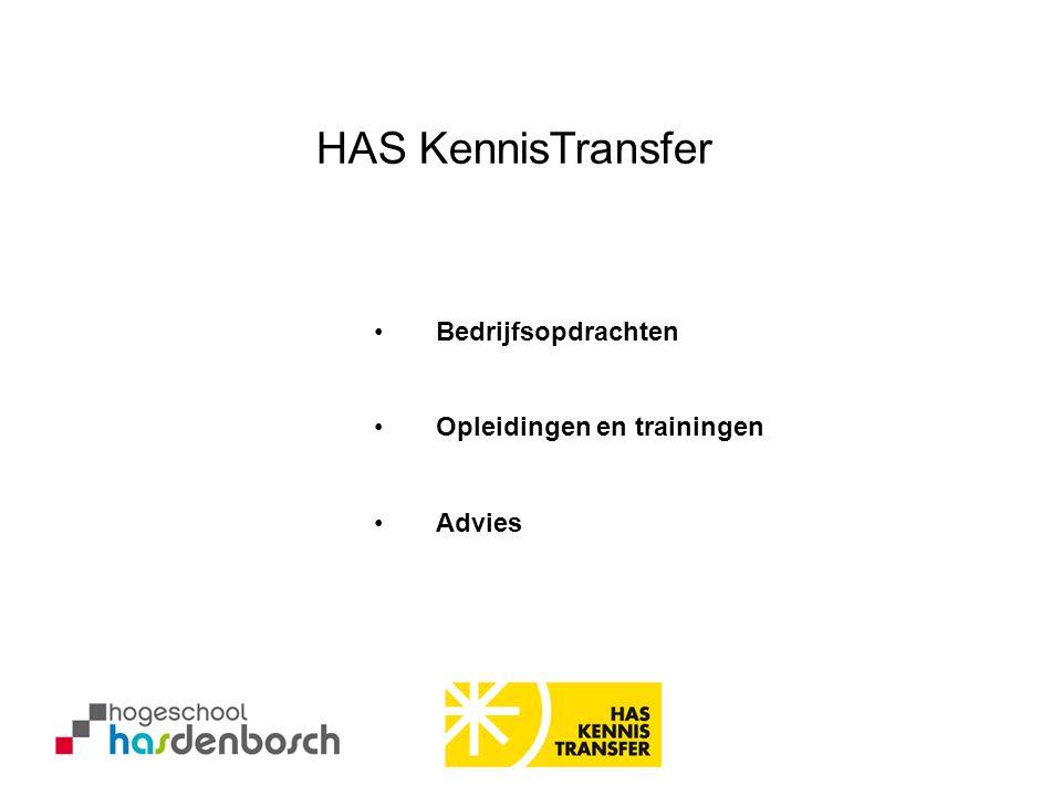 HAS KennisTransfer Bedrijfsopdrachten Opleidingen en trainingen Advies