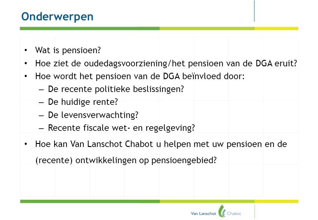Wat is pensioen Vervangend inkomen bij: arbeidsongeschiktheid