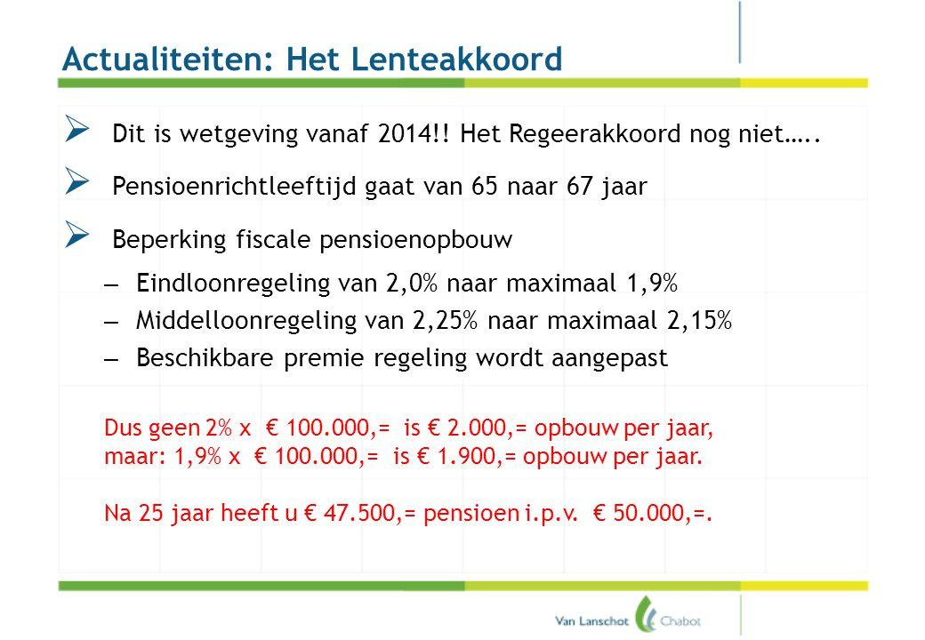 Het regeerakkoord VVD – PvdA (pensioen)