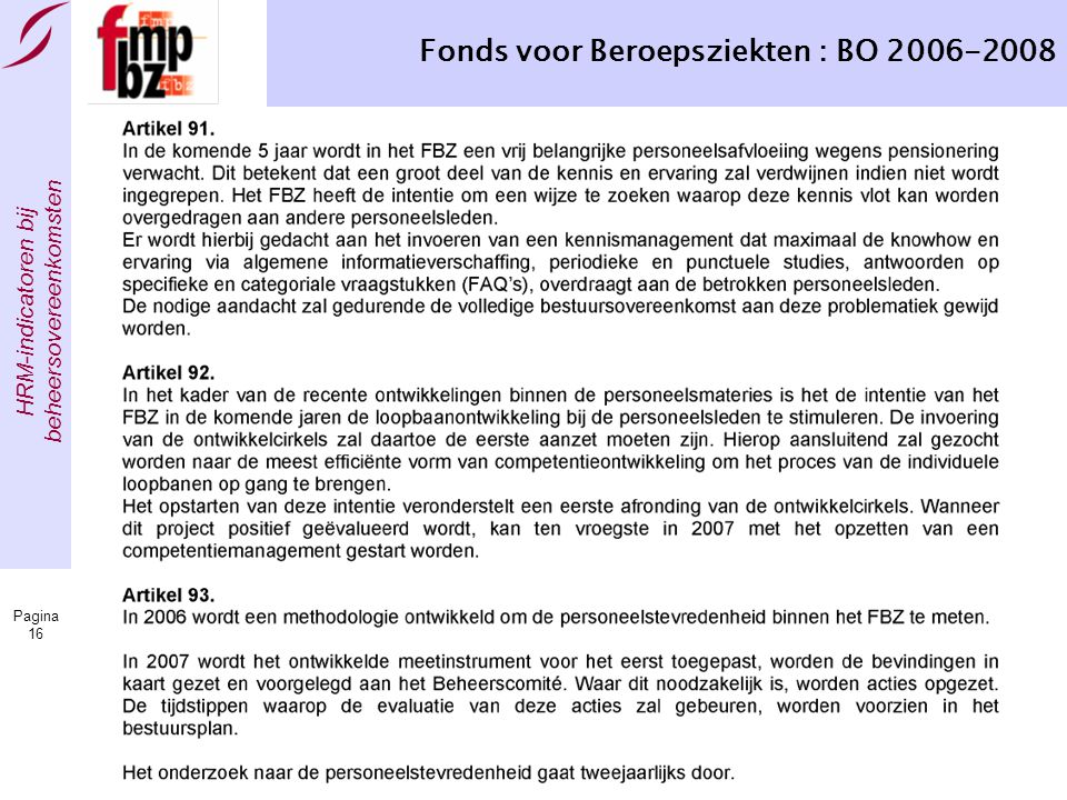 Fonds voor Beroepsziekten : BO 2006-2008