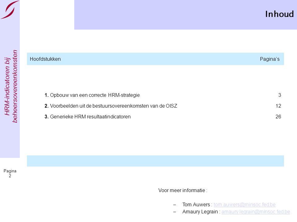 Inhoud Hoofdstukken Pagina's 1. Opbouw van een correcte HRM-strategie