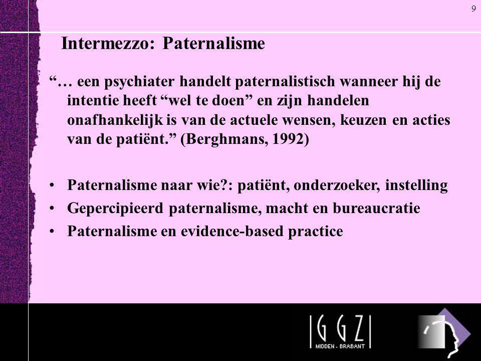 Intermezzo: Paternalisme