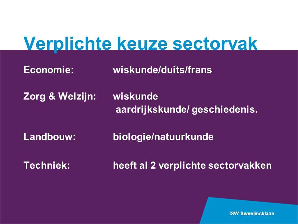 Verplichte keuze sectorvak